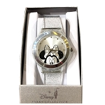 Disney Wrist Watch - Minnie Mouse - Clear Glitter Band