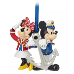 Disney Ornament - Captain Mickey & Minnie Mouse - Disney Cruise Line