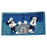 Disney Beach Towel - Disney Cruise Line Captain Mickey Mouse and Minnie