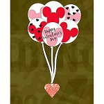 Disney Pin - Valentine's Day 2020 - Mickey Balloons and Heart