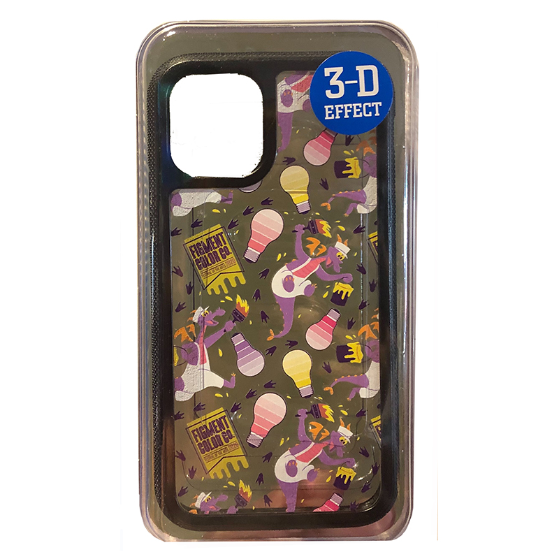 Disney iPhone 6s / 7 / 8 Case - Figment - Epcot Festival of the Arts 2020 - Clear / 3D Effect
