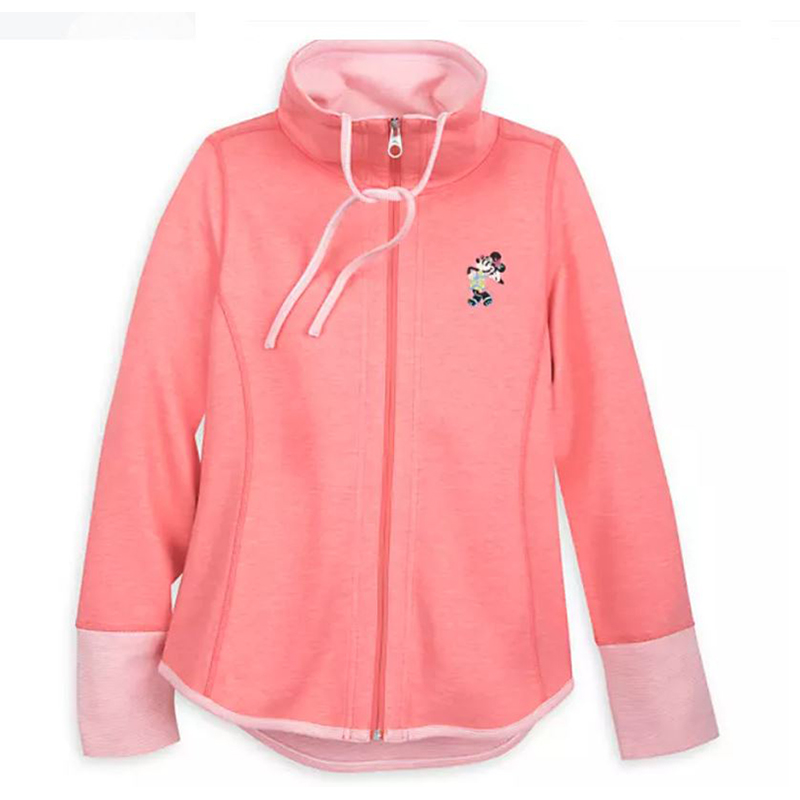 Disney Women's Tommy Bahama Cowl Neck Jacket - Minnie Mouse - Coral