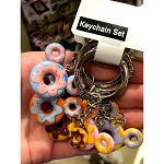 Disney Keychain Keyring Set - Mickey Icon Donuts