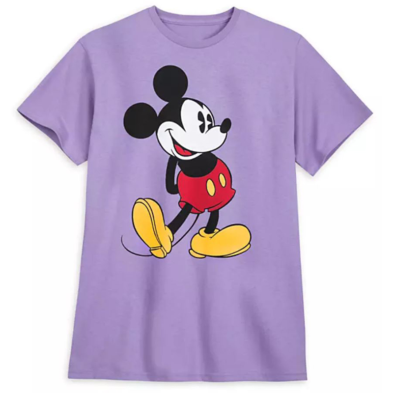 Disney Adult Shirt - Classic Mickey Mouse - Lavender