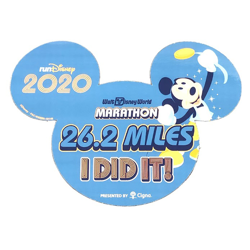 Disney Car Magnet - 26.2 Miles - I DID IT! - Walt Disney World Marathon 2020 - Mickey Mouse