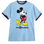 Disney Men's Shirt - Mickey Mouse Ringer T-Shirt - Blue