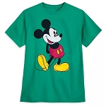 Disney Adult Shirt - Classic Mickey Mouse - Kelly Green