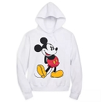 Disney Adult Pullover - Classic Mickey Mouse - White