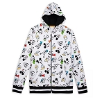Disney Men's Zip Up Hoodie - Mickey Mouse & Friends Faces