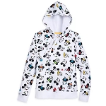Disney Women's Pullover - Mickey Mouse & Friends Faces