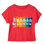 Disney Women's Fashion T Shirt - Minnie Mouse - Multicolor