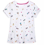 Disney Women's Shirt - Mickey Mouse & Friends - Cap Sleeve T-Shirt