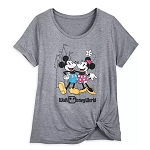 Disney Women's Fashion T Shirt - Mickey and Minnie Mouse