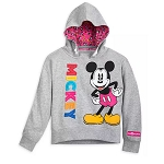 Disney Girls Hooded Pullover - Mickey Mouse