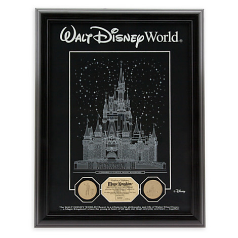 Your Wdw Store Disney Framed Etched Glass Panel Cinderella Castle Limited Edition
