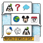 Disney Pin - Celebrate Today - 07 World Emoji Day 2020 Mickey and Friends