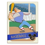Disney Pin - Trading Cards - 08 Casey at the Bat Baseball