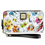 Disney Dooney & Bourke Bag - Ink & Paint - Wristlet Wallet