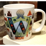 Disney Mug - W is for Epcot World Showcase - ABC Disney Letters