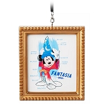 Disney Framed Canvas Ornament - Sorcerer Mickey Mouse - Ink & Paint
