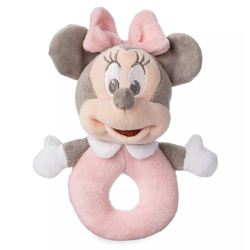 Disney Plush Toy Rattle Parks Mickey Minnie Mouse Goofy Pooh New