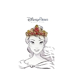 Disney Pin - Golden Princess Crown - Belle