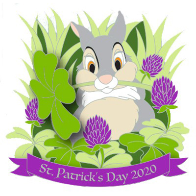 Disney Pin - St. Patrick's Day 2020 - Thumper