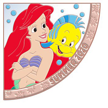 Disney Pin - Quarterly Series - Summer 2020 Ariel and Flounder