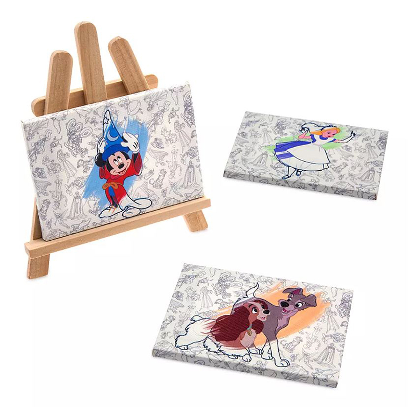 Disney Canvas Magnetic Set w/ Display Easel - Ink & Paint