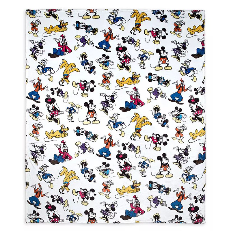 Disney Throw Blanket - Classic Mickey Mouse & Friends