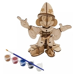 Disney 3D Wood Model & Paint Set - Sorcerer Mickey - Ink & Paint