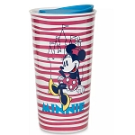 Disney Travel Tumbler Mug - Minnie Mouse Stripes