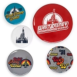 Disney Button Set - Walt Disney World - Retro