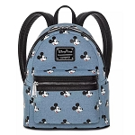 Disney Loungefly Bag - Mickey Mouse - Denim Mini Backpack