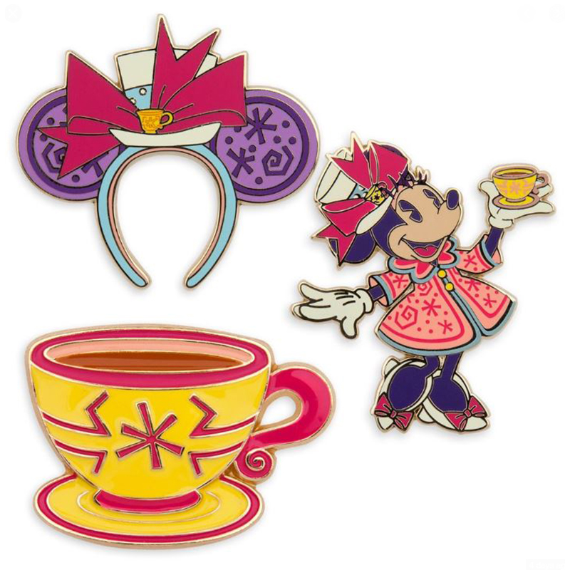 Disney Pin Set - Minnie Mouse The Main Attraction - Mad Tea Party - Limited Release