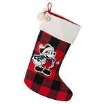 Disney Stocking - Mickey Mouse Plaid Holiday Stocking