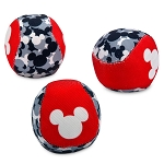 Disney Tails Ball Set - Mickey Icon Squeaky Chew Toys for Dogs