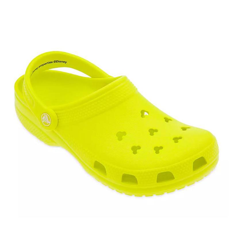 Disney Crocs - Neon Yellow - Mickey Mouse