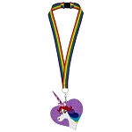 Disney Lanyard & ID Holder - Rainbow Unicorn