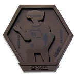 Disney Pin - Star Wars Galaxy's Edge Droid Badge - L3-37 - Limited Edition