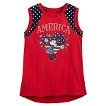 Disney Girls Shirt - Minnie Mouse - America - Tank Top