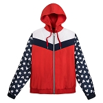Disney Women's Jacket - Mickey Mouse - Americana - Windbreaker