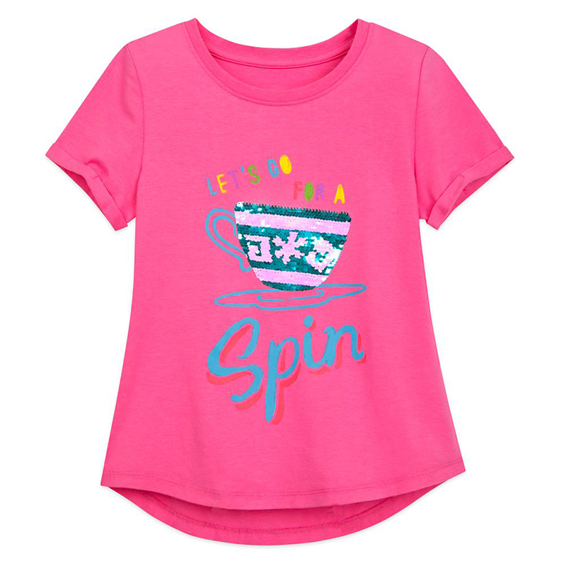 Disney Girls Shirt - Mad Tea Party - Reversible Sequin