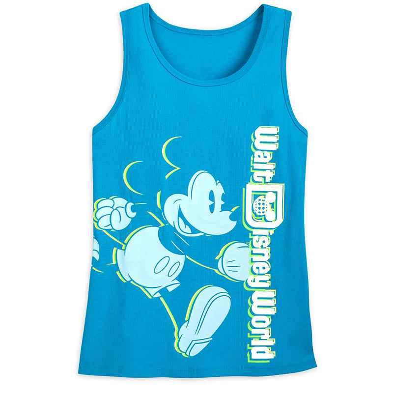 Disney Women's Shirt - Classic Mickey Mouse - Neon Blue - Tank