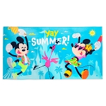 Disney Beach Towel - Mickey & Minnie Mouse - Yay Summer!