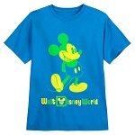 Disney Youth Shirt - Classic Mickey Mouse - Neon
