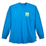 Disney Adult Shirt - Spirit Jersey - Walt Disney World Logo - Neon Blue