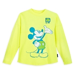 Disney Youth Shirt - Spirit Jersey - Mickey Mouse - Neon Yellow