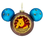 Disney Glass Ornament - Mickey Mouse Icon - Winnie the Pooh & Owl