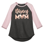 Disney Women's Shirt - Disney Mom - Raglan T-Shirt